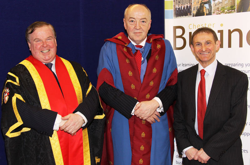 Phil with Prof Wheeler and Danny Moss